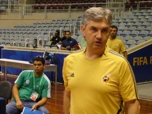 Jose Venancio en un entrenamiento