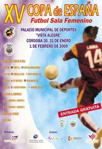 Cartel Copa Femenina de Fútbol Sala Femenino 2009