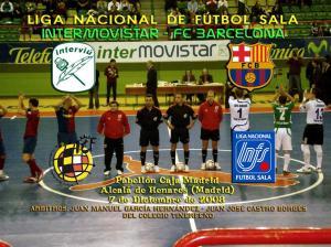 García y Castro en el pasado encuentro entre InterMovistar y FC Barcelona