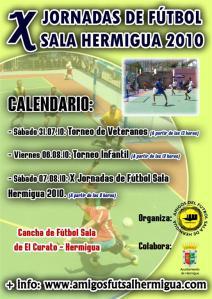 Cartel de las X Jornadas de Fútbol Sala de Hermigua 2010