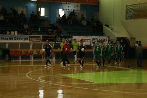 Salida a la cancha en el partido Zamora FS - Extremadura Caceres 2016