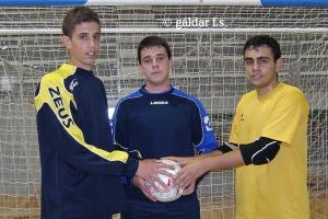 Alvaro, César e Imanol - porteros canteranos del Galdar Gran Canaria FS