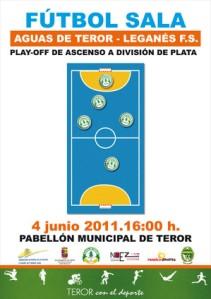 Cartel del encuentro Aguas de Teror FS - CD Leganés FS