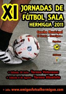 Cartel X Jornadas de Fútbol Sala Hermigua 2011