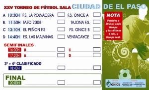 Cartel XXV Torneo de Fútbol Sala CIUDAD DEL PASO La Palma