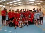 Instantánea de grupo del II Campus de Verano de Fútbol Sala 2011