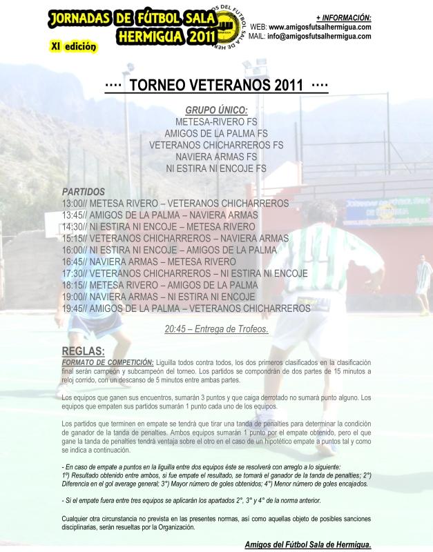Cuadro Torneo Veteranos 2011