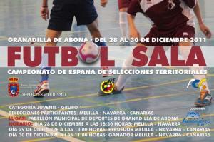 Cartel Selecciones Juveniles Futbol Sala Granadilla de Abona