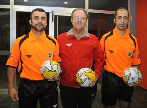 García Hernandez (izd) y Díaz Rodríguez (drch) en el encuentro de copa del Rey entre Galdar e InterMovistar