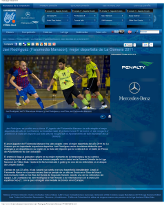 Javi Rodríguez  Fisiomedia Manacor , mejor deportista de La Gomera 2011 -- Liga Nacional de Futbol Sala-170643