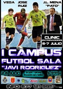 Cartel I Campus de Fútbol Sala Javier Rodríguez en La Gomera