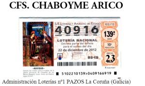 Lotería Navidad 2012 - CFS Chaboyme Arico