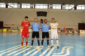Díaz Rodríguez y García Hernandez en un encuentro de la temporada 12-13 entre Puertollano y Marfil Santa Coloma