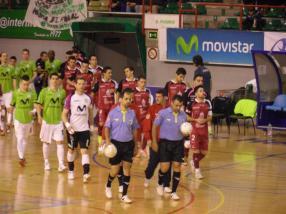 Díaz Rodríguez y García Hernandez en su último encuentro de Liga - InterMovistar - Caja Segovia FS 12-13