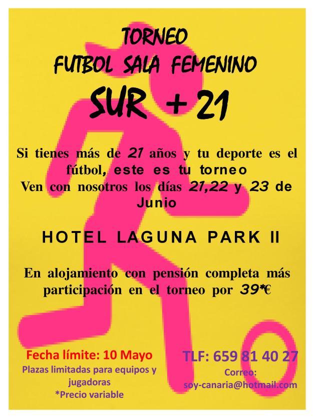 Cartel Torneo Fútbol Sala Femenino + 21
