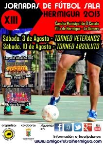 Cartel XIII Jornadas de Futbol Sala Hermigua 2013