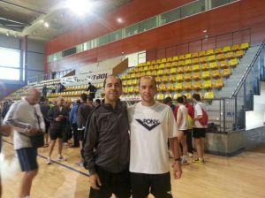 Díaz y Mamolar el pasado mes de Junio en las Pruebas de Ascenso a Segunda División