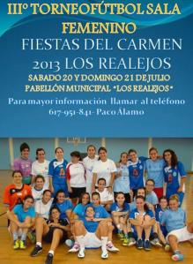 III Torneo Fútbol Sala Femenino Fiestas del Carmen 2013 - Los Realejos Tenerife