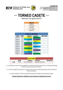Torneo Cadete 2014