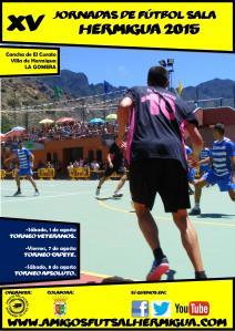 Cartel XV Jornadas de Fütbol Sala de Hermigua 2015