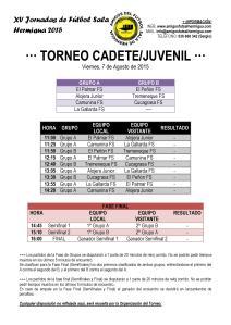 Torneo Cadete Juvenil 2015