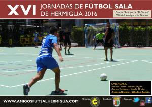 Cartel XVI Jornadas de Fútbol Sala de Hermigua 2016