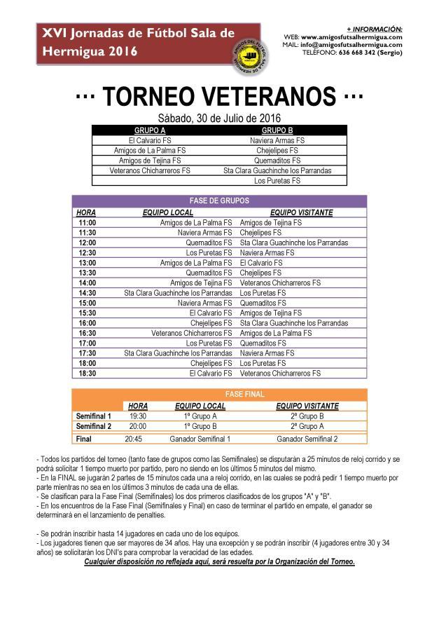 Torneo Veteranos 2016
