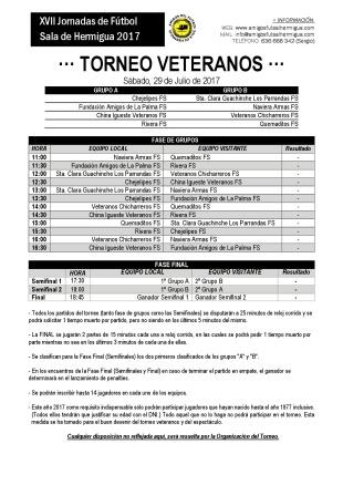 2017 - Cuadrante Torneo Veteranos