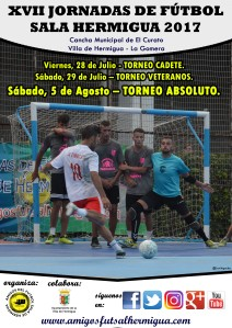 Cartel XVII Jornadas de Fútbol Sala Hermigua 2017