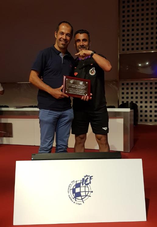 Homenaje al arbitro de Gran Canario Vicente Díaz